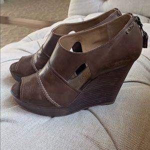 Chloe Shoes - Chloe peep toe cut out wedges! Size 38